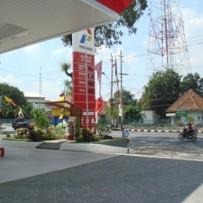 SPBU Pertamina di Jalan Gajah Raya Semarang